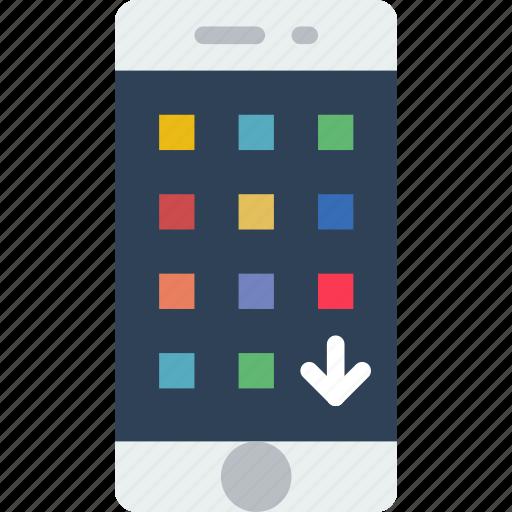 app, apps, arrange, interface, mobile, web icon