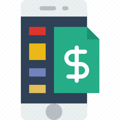 app, file, financial, interface, mobile, web icon