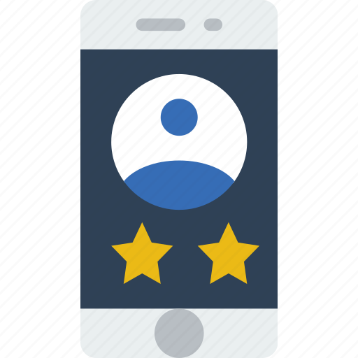 app, interface, mobile, rating, user, web icon