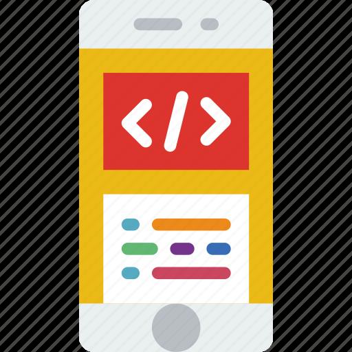 app, coding, interface, mobile, web icon