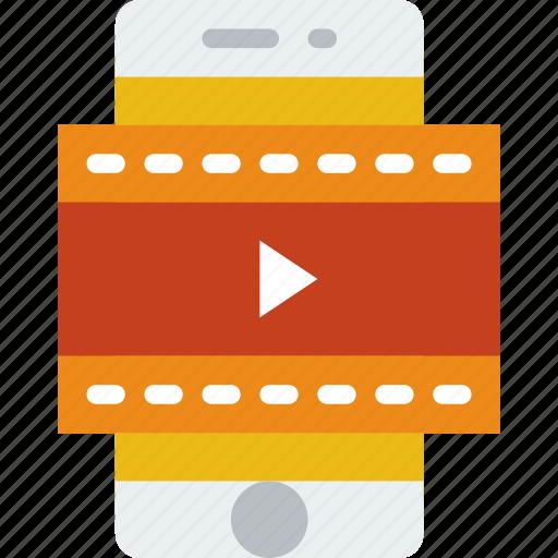 app, interface, mobile, movie, web icon