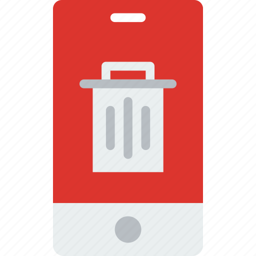application, interaction, interface, mobile, trash icon