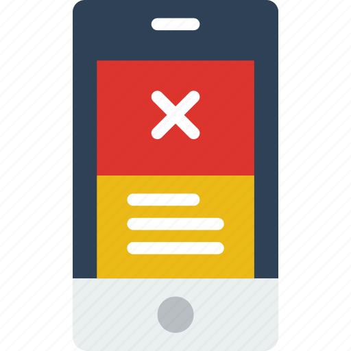 Application, error, interaction, interface, message, mobile icon - Download on Iconfinder
