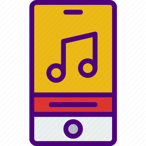 application, interaction, interface, mobile, song icon