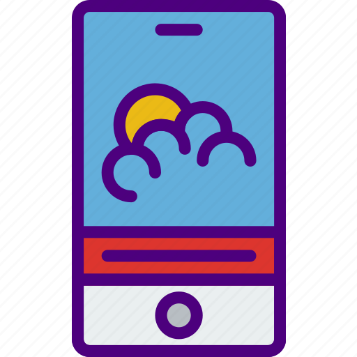 app, application, interaction, interface, mobile, weather icon