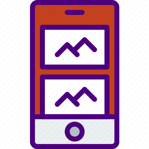 application, carousel, interaction, interface, mobile, picture icon