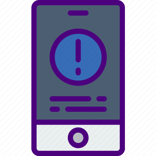 application, interaction, interface, message, mobile, warning icon