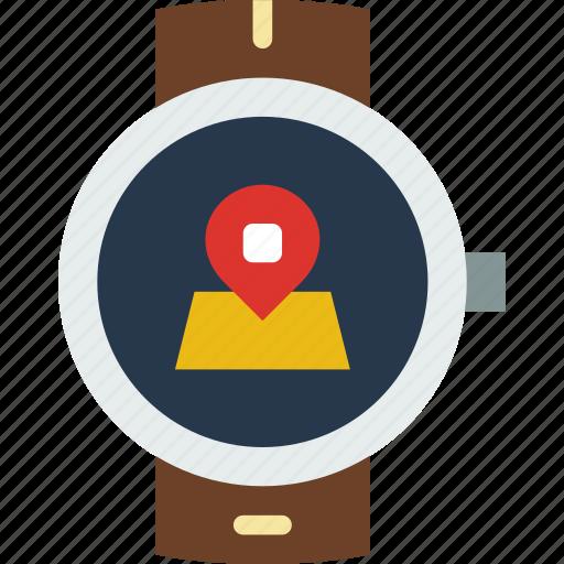 app, interface, location, smart, watch icon