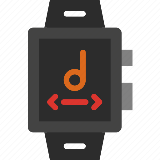 app, controls, interface, music, smart, watch icon