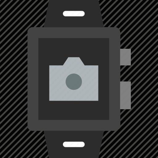 app, camera, interface, smart, watch icon