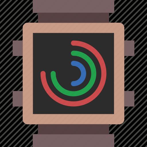 activity, app, interface, smart, watch icon