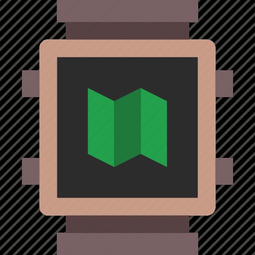 app, interface, maps, smart, watch icon
