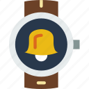 alarm, app, interface, smart, watch icon