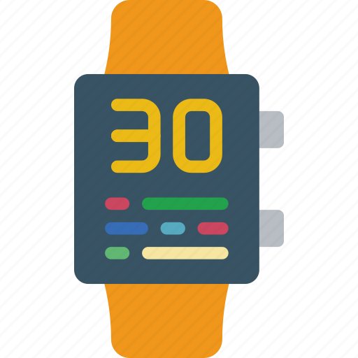 app, battery, interface, low, smart, watch icon