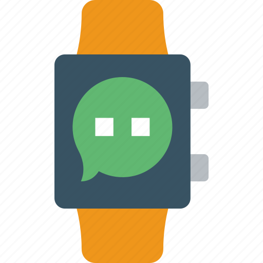 app, conversation, interface, smart, watch icon