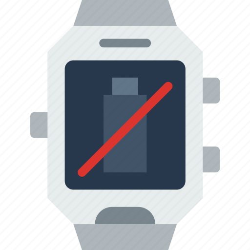 app, battery, interface, no, smart, watch icon