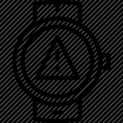 app, interface, smart, warning, watch icon