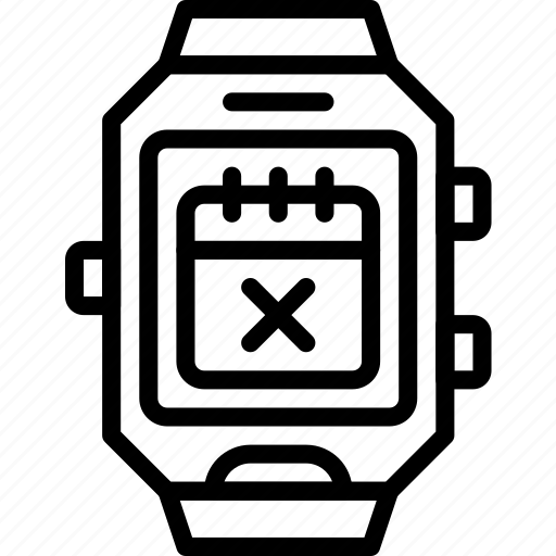 app, calendar, date, interface, smart, watch icon