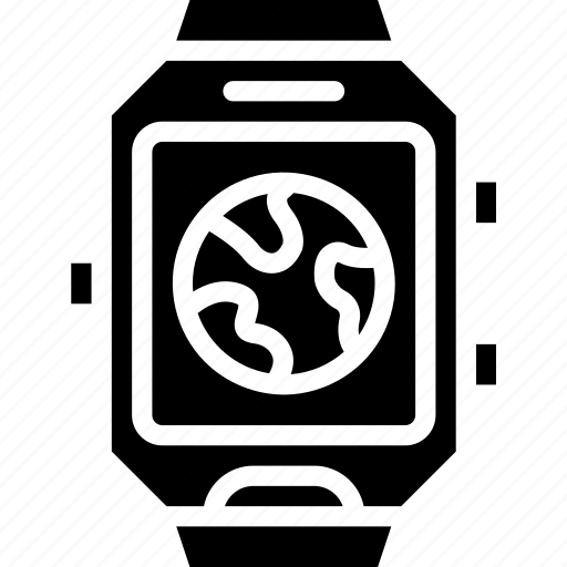 app, clock, interface, smart, watch, world icon
