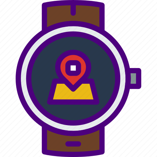 app, interface, location, smart, watch icon