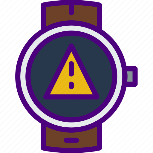 app, interface, smart, warning, watch icon