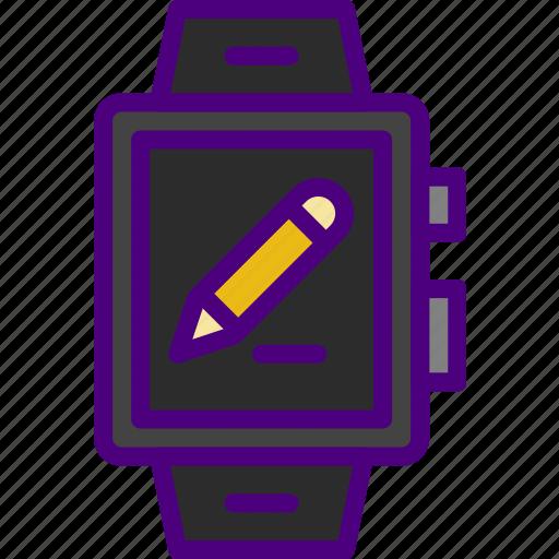 app, edit, interface, smart, watch icon