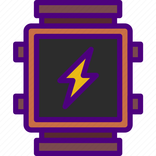 app, charging, interface, smart, watch icon