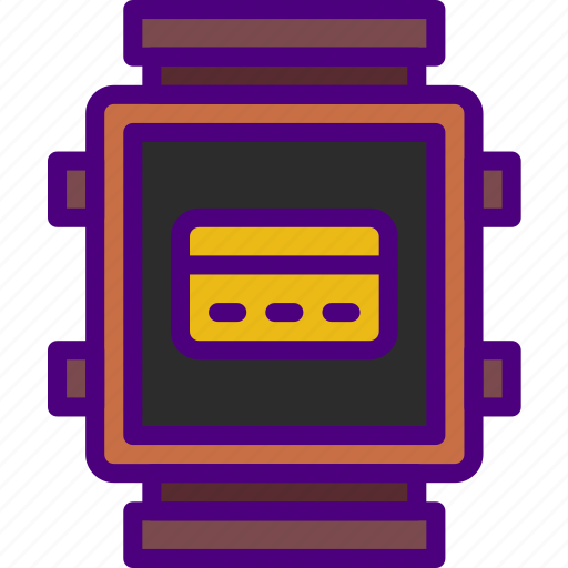 app, interface, payment, smart, watch icon