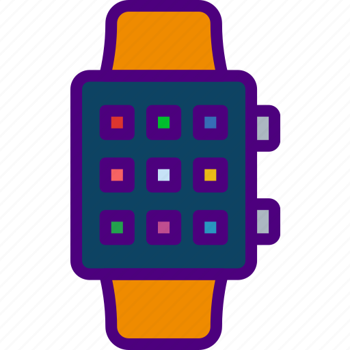 app, apps, interface, smart, watch icon