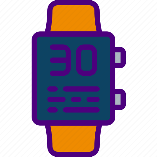 app, battery, interface, low, smart, watch icon