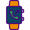 app, interface, phonecall, receive, smart, watch icon
