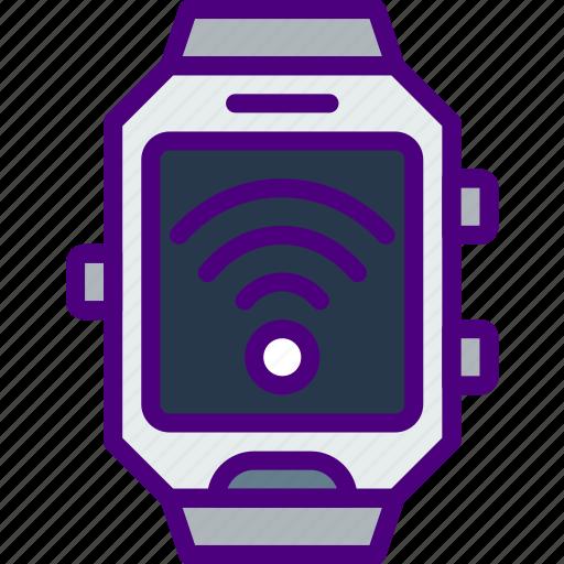app, fi, interface, smart, watch, wi icon