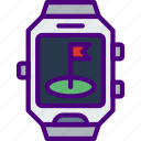 app, goal, interface, location, smart, watch icon
