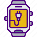 app, charge, interface, smart, watch icon