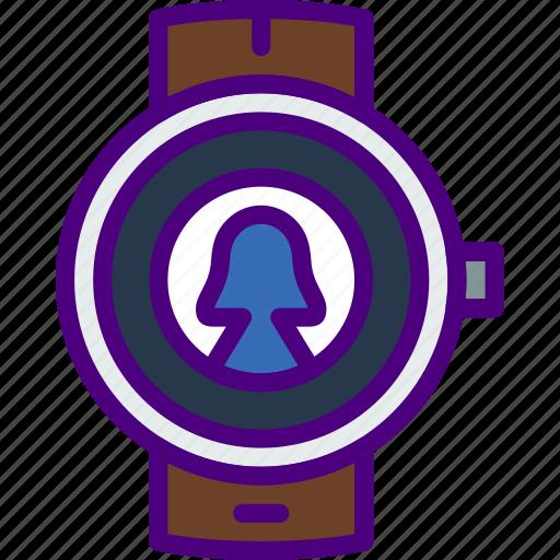 app, interface, smart, user, watch icon