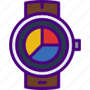 analytics, app, interface, smart, watch icon