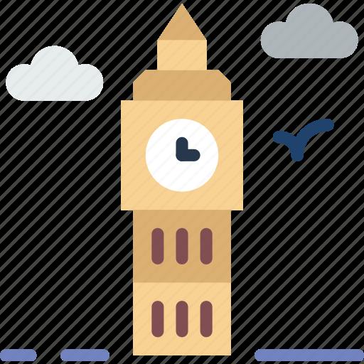 city, clock, house, street, urban icon
