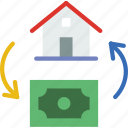 buy, city, house, street, urban icon