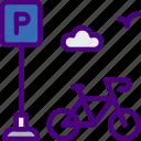 bicycle, city, house, parking, street, urban