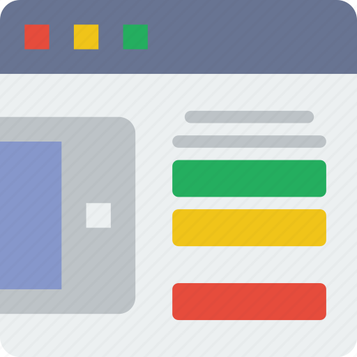 browser, device, interaction, interface, internet, presentation, user icon