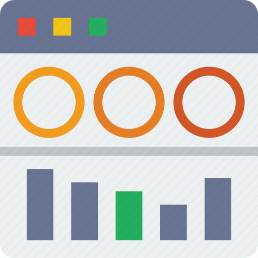 analytics, browser, interaction, interface, internet, screen, user icon