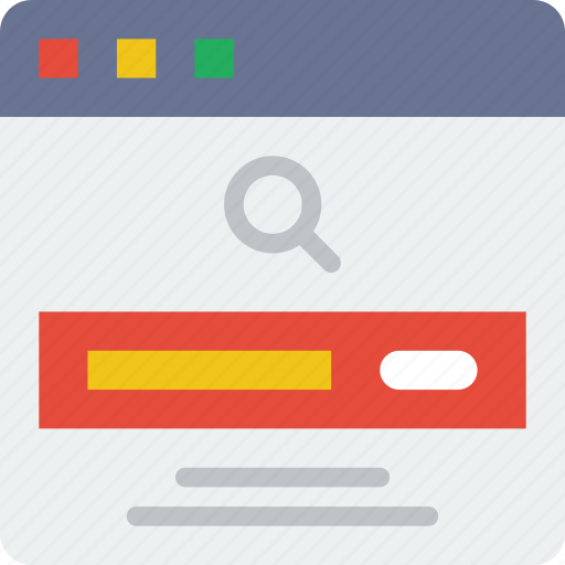 bar, browser, interaction, interface, internet, search, user icon