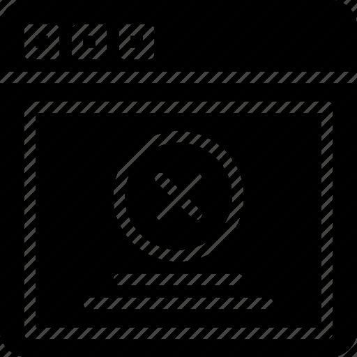 browser, error, interaction, interface, internet, message, user icon