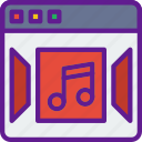 album, browser, interaction, interface, internet, music, user icon