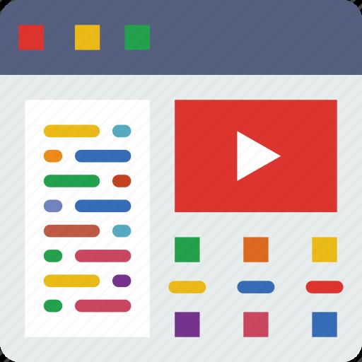 App, computer, description, development, video, web icon - Download on Iconfinder