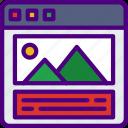 app, computer, development, portfolio, web, website icon