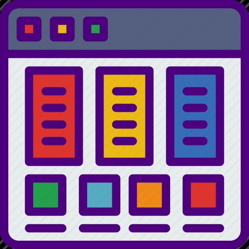 app, computer, development, pricetable, web icon