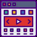 app, carousel, computer, development, video, web icon