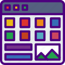 app, computer, development, portfolio, user, web icon