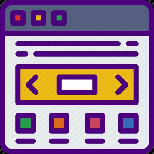 app, computer, development, slider, web icon